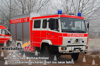 Wiesbaden112 wünscht ein friedliches Weihnachtsfest und einen sicheren Start ins neue Jahr.
