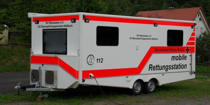 Neue mobile Rettungsstation beim DRK Wiesbaden