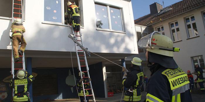 Gemeinsamme Jahresabschlussübung der Feuerwehren Breckenheim und Igstadt
