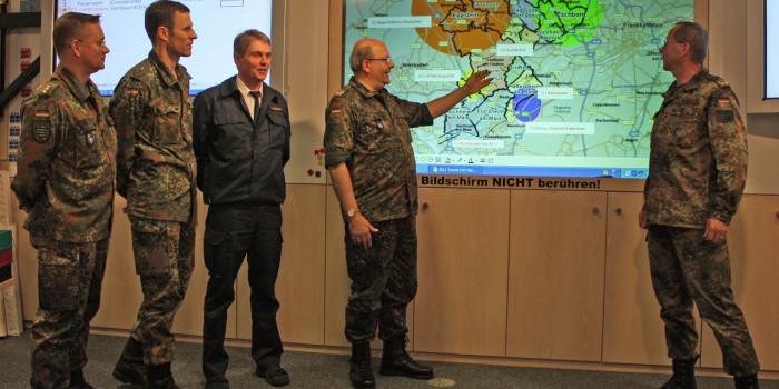 Bundeswehr und Katastrophenschutz übten Schneechaos