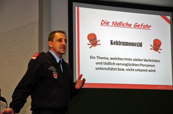 Vortragsreihe zur Gefährdung durch Kohlenmonoxid begleitet von zwei Beispielfällen
