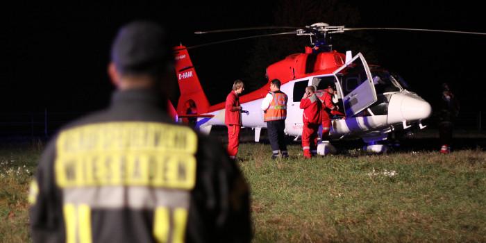 Hubschrauber-Landung sorgt für Aufregung in Kloppenheim