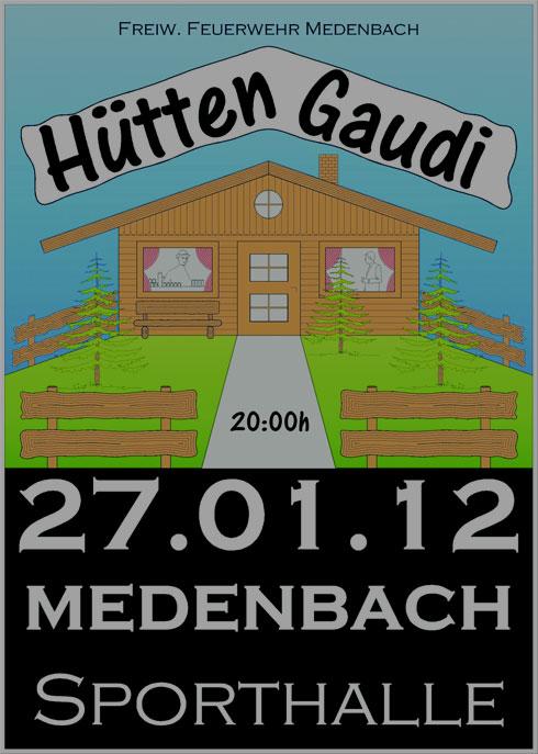 Hüttengaudi der Feuerwehr Medenbach am 27. Januar