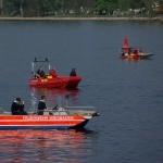Zahlreiche Rettungskräfte suchen vergeblich nach Person im Rhein