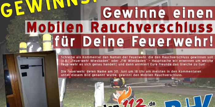 Gewinnspiel: Wiesbaden112 und die R+V Versicherung verlosen einen Mobilen Rauchverschluss