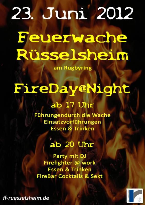 """Mittsommernachtsfest der FF-Niedernhausen – """"FireDay@Night"""" auf der Feuerwache Rüsselsheim"""