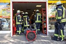Schwelbrand in Tierhandlung schnell gelöscht – Aufwändige Entrauchung