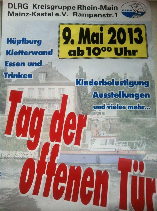"""DLRG Rhein-Main veranstaltet an Vatertag ihren """"Tag der offenen Tür"""""""