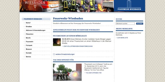 Feuerwehren Wiesbaden, Rüdesheim und Frankfurt präsentieren sich mit neuen Homepages