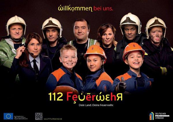 """DFV-Kampagne """"112 Feuerwehr – Willkommen bei uns!"""""""