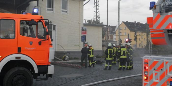 Feuer in Obdachlosen-Unterkunft in Kastel schnell gelöscht