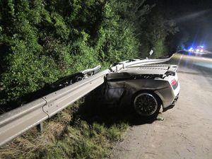 Tödlicher Verkehrsunfall bei Worms – Lamborghini landet unter Leitplanke