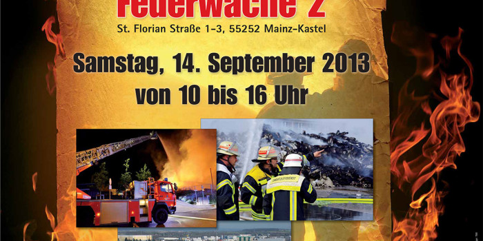 Samstag: Tag der offenen Tür der Feuerwehr Wiesbaden – Wiesbaden112 präsentiert riesige Fotowand