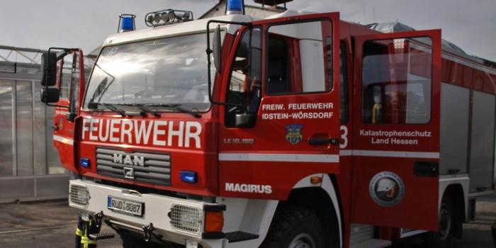 Vier teils schwer Verletzte bei Brand in Idstein-Dasbach