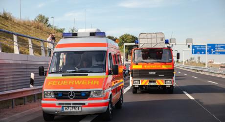 Drei Verletzte bei Zusammenstoß auf der A60
