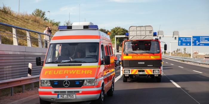 Verkehrsunfall im A60-Tunnel bei Mainz-Hechtsheim