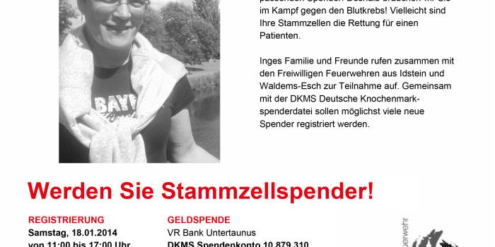 Feuerwehren veranstalten Typisierungsaktion in Idstein