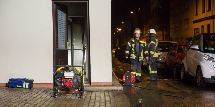 Feuer in Appartement in der Innenstadt