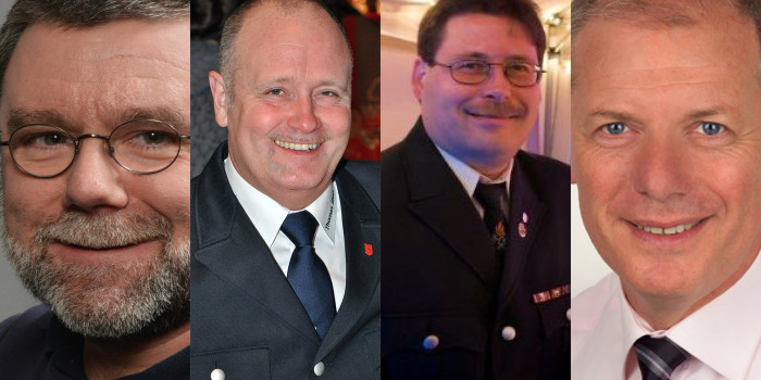 Die Kandidaten zur anstehenden Wahl der Stadtbrandinspektion und des Kreisfeuerwehrverbandes