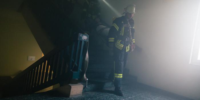 Feuer in Schultze-Delitzsch-Schule: Feuerwehr und ASB üben gemeinsam