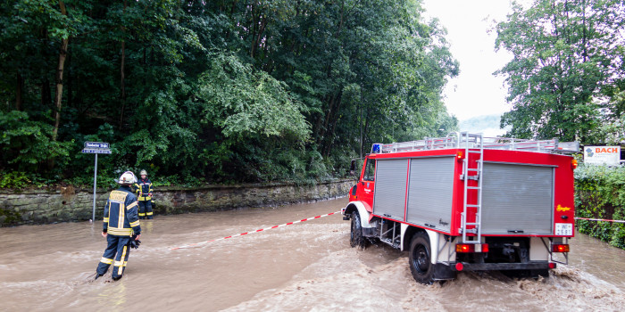 Heftiger Starkregen überflutet Rambach, Sonnenberg und die Innenstadt