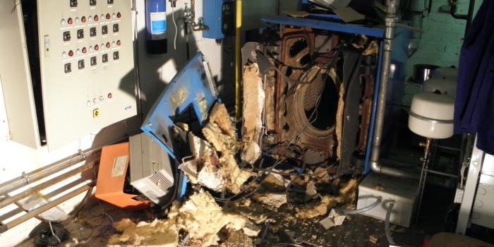 Explosion in Heizungsanlage eines Autohauses endet glimpflich