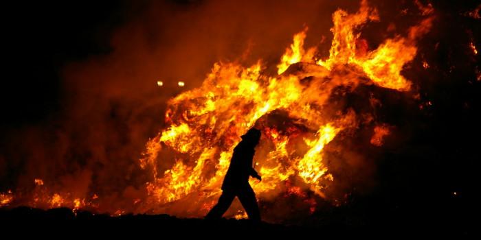 Misthaufenbrand sorgt für Rauchbeeinträchtigung auf der A66