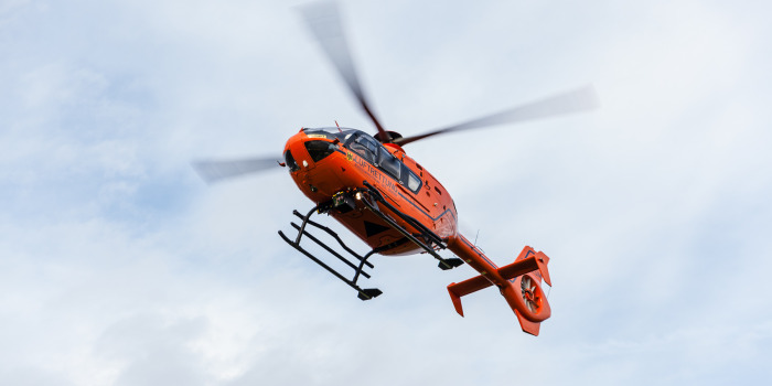 Landung des Rettungshubschraubers – A5 voll gesperrt
