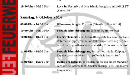 Bundeswertungsspiele der Deutschen Feuerwehren in Bad Schwalbach