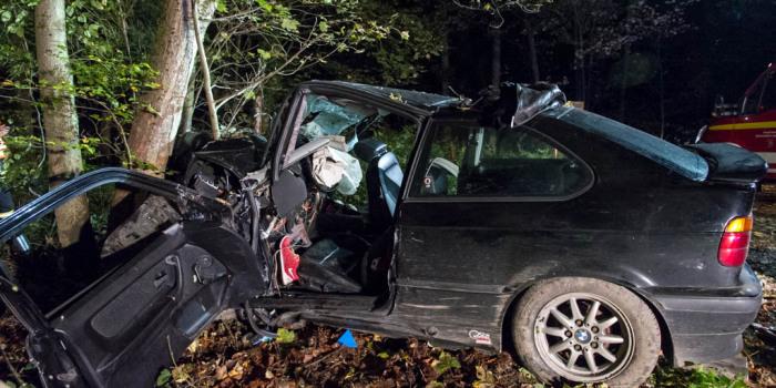 Frontal gegen Baum geprallt – Fahrer schwer verletzt