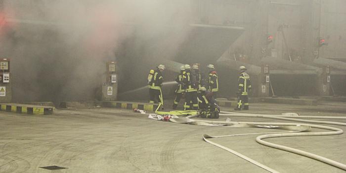 Explosion und Feuer im Mainzer Müllheizkraftwerk