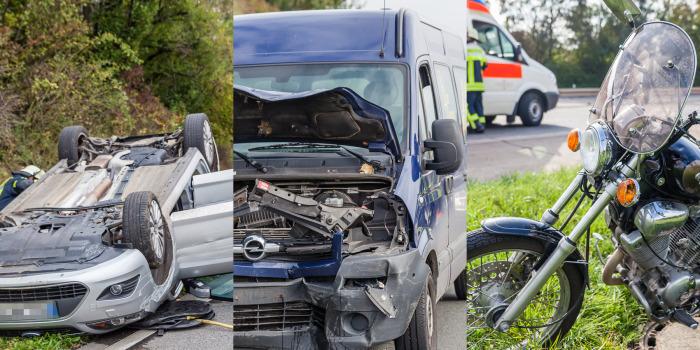 Acht Verletzte bei vier zeitgleichen Unfällen auf A66 und A3