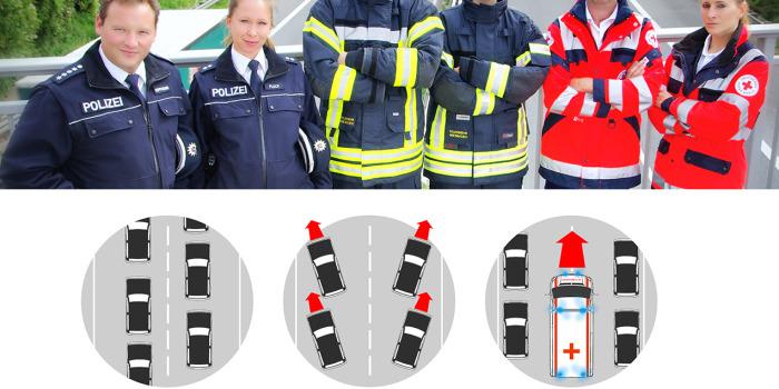 DFeuG und Wiesbaden112 starten Kampagne zur Rettungsgasse