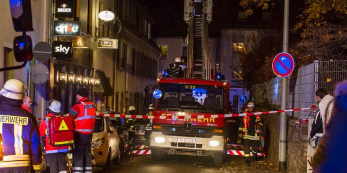 Zimmerbrand in Asylbewerber-Unterkunft in Rüdesheim