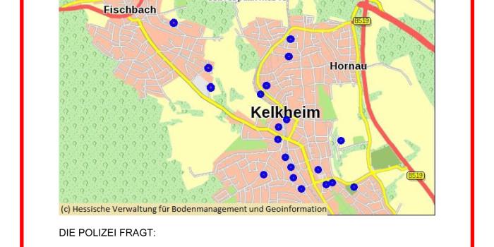 Erneuter Brand in Kelkheim – Belohnung nach 28 Brandstiftungen ausgesetzt