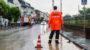 Unwetterfront über Wiesbaden – wenige Einsätze