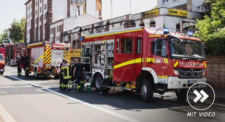 Ehemalige Brauerei in Mainz brennt aus – Feuerwehr im Großeinsatz