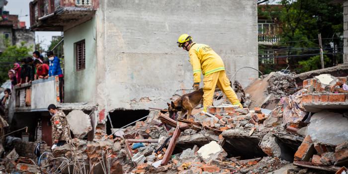 Die Suche nach Überlebenden: Ein deutsches Such- und Rettungsteam im Einsatz in Nepal