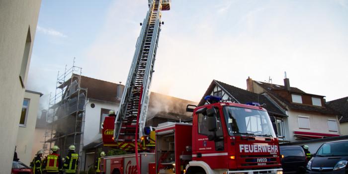 Wohnhausbrand in Oberursel-Bommersheim