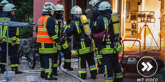 Wohnungsbrand in Escher Hammermühle