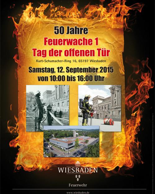 50 Jahre Feuerwache 1: Tag der offenen Tür mit Wiesbaden112