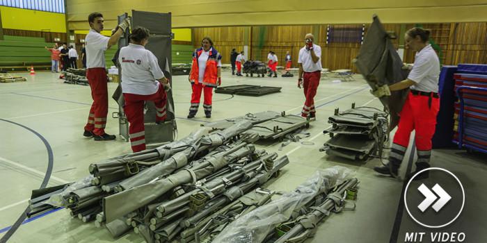 Hilfsorganisationen bereiten Unterkünfte für rund 1.000 Flüchtlinge her