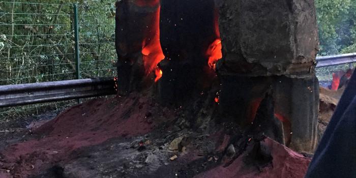Glimmender Kohlenstoff sorgt für 30-stündigen Feuerwehreinsatz in Walluf