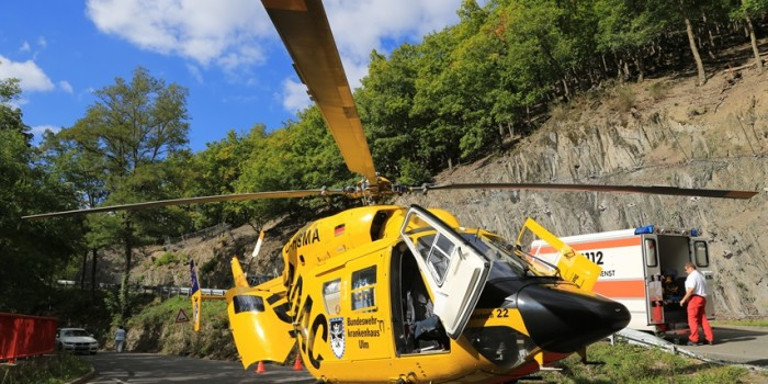 Zwei Motorradunfälle bei Lorch – Schwerverletzter mit Rettungshubschrauber ins Krankenhaus