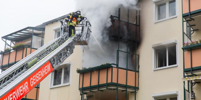 Wohnung in Geisenheim komplett ausgebrannt