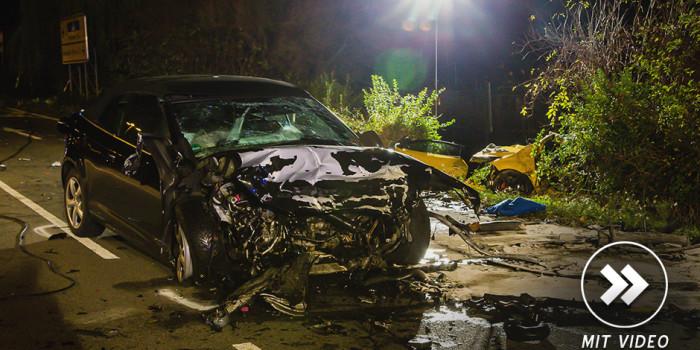 Tödlicher Unfall auf B42: Frontalzusammenstoß beim Überholen
