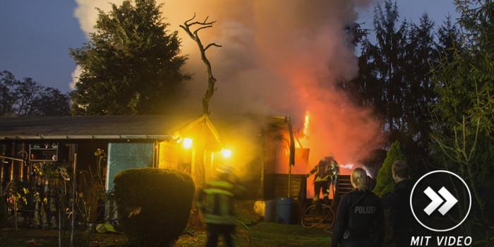 Wohncontainerbau in Amöneburg komplett ausgebrannt