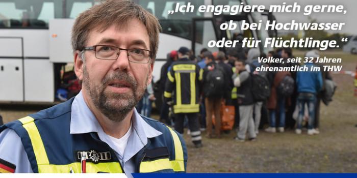 """Bundesweite Medienaktion zur Flüchtlingshilfe: """"Das THW zeigt Gesicht"""""""