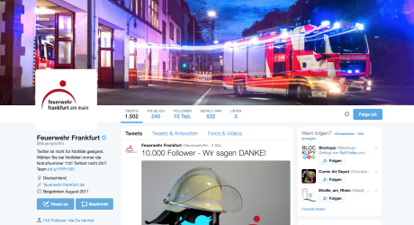 Warnen und informieren: Frankfurter Feuerwehr setzt auf Twitter