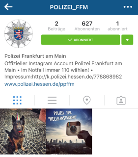 Polizei Frankfurt Instagram